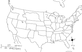Blank Usa Map by