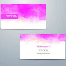 watercolor business card template 9979 dryicons
