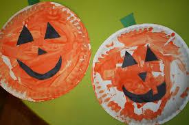 kenna u0027s felt forest jack o lantern paper plate craft