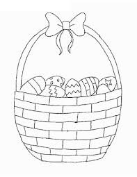 basket full of easter eggs to color coloring pages