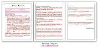 agreement templates microsoft office templates