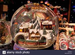 German Gift Basket Snow Domes On Sale At German Christmas Market Southbank London