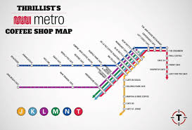 Montgomery Bart Station Map by The Greatest Sf Coffee Shop Map Ever Made Thrillist San Francisco