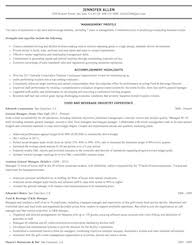 Prepare Resume Food Preparation And Serving Related Resume Samples