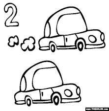 numbers coloring pages 1