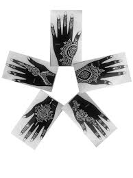 pack of 5 left upper part of hand as seen in vogue simply indian