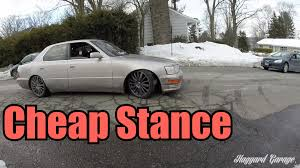 stanced lexus wallpaper how to stance your car for super cheap youtube