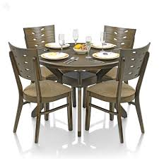 Round Dining Room Tables For 6 Elmdon Black Circular Dining Table And 4 Black Chairs Expired