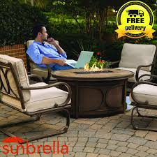 Firepit Set by Kendall 5 Pc Outdoor Firepit Set 4 Chairs U0026 Gas Firepit Table