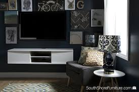 amazon com south shore agora wall mounted media console 56