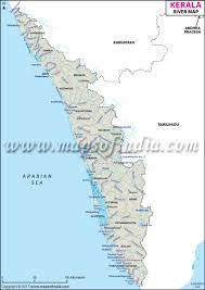 Blank Maharashtra Map by Rivers In Kerala