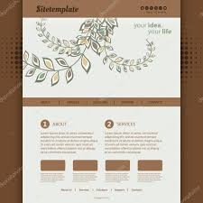 website template with abstract header design organic ornaments