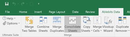 combine multiple worksheets into one excel file easily