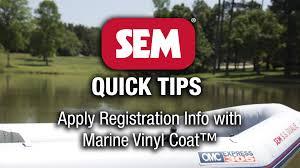 Marine Vinyl Spray Paint - sem quick tip marine vinyl coat youtube