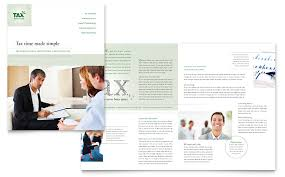 accounting u0026 tax services brochure template word u0026 publisher