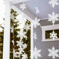 Paper Snowflake Garlands Christmas Decoration Paper Party Supplies