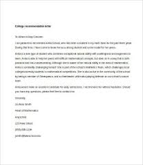 letter of recommendation for student 6 free sample example