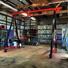 homemade 4x4 homemade gantry crane