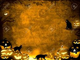 halloween background cat and pumpkin halloween pumpkins and black cats brown sepia texture background