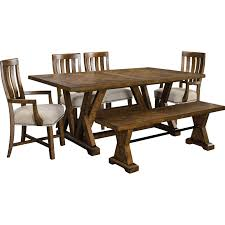 Broyhill Furniture Dining Room Broyhill Furniture Pieceworks Trestle Table And Upholstered Chair