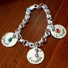 name charms this sterling silver thick rolo bracelet is available in 7 8 or