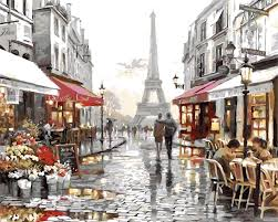 oil painting by number kits diy oil paint by number romantic