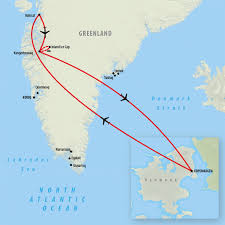 Greenland Map Greenland Tours Holidays To Greenland On The Go Tours Au