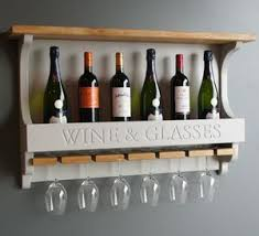 wall mounted wine rack with wine glasses holder by chatsworth