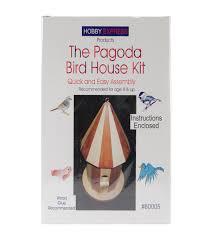 unfinished wood kit pagoda bird house joann