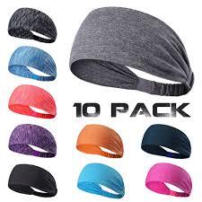 headband sport 10 pack headband sport fitness sweatband for girl women
