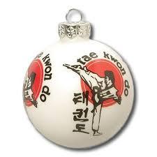 taekwondo tree ornament martial arts