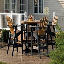 high top patio table and chairs incredible high top patio furniture find recycled plastic outdoor