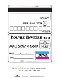 printable halloween scavenger hunt printable diva mall scavenger hunt invitations