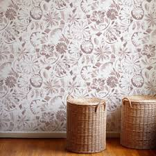 floral collage wallpaper in taupe u2013 rebecca atwood designs
