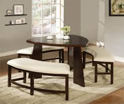dining room table with bench seating coaster dining table