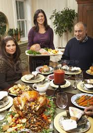 serving thanksgiving dinner stock photo picture and royalty