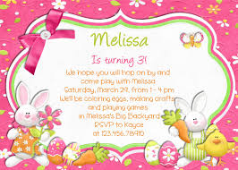 Birthday Invitation Cards Design Pretty Easter Birthday Invitation E Card Design Sample With Cute