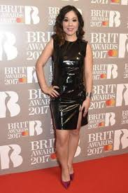 awn awards clara amfo attends the brit awards 2017 shiny leather latex pvc