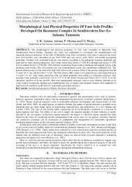 morphological and physical properties of four soils profiles develope u2026