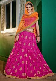 rani pink colour ranipink color attractive lehenga choli with brocade fabric