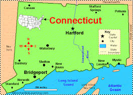 connecticut on map connecticut facts map and state symbols enchantedlearning com