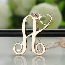 monogram jewelry cheap 25 best ns single letter monogram jewelry images on