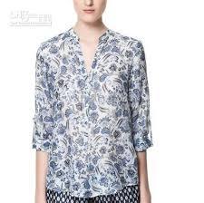 womens cotton blouses cotton blouses style s blue flower blouse