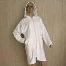 robe de chambre eponge femme peignoir fermeture eclair la serviette de bain