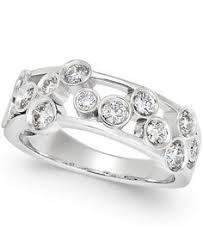 Macys Wedding Rings by Wedding U0026 Anniversary Rings Wb4243 0 74 Ct Bezel Set Five Stone
