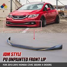 jdm style pu unpainted front lip for honda civic sedan 2013 2014