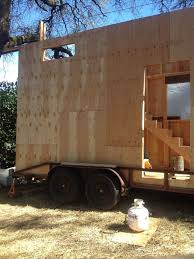 half finished 8 16ft tiny house tinyhousefinder