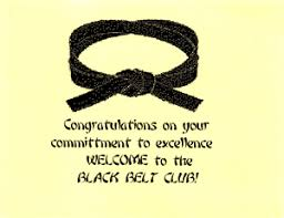 black belt congratulations card postcards goshin products