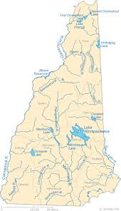 New Hampshire lakes images Map of new hampshire lakes streams and rivers gif