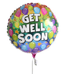 get well soon and balloons get well soon balloon for delivery to united kingdom from